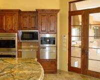 Alder Kitchen Cabinets & French Doors