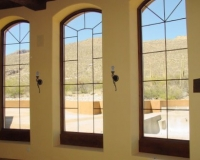 Custom Stained Window Frames