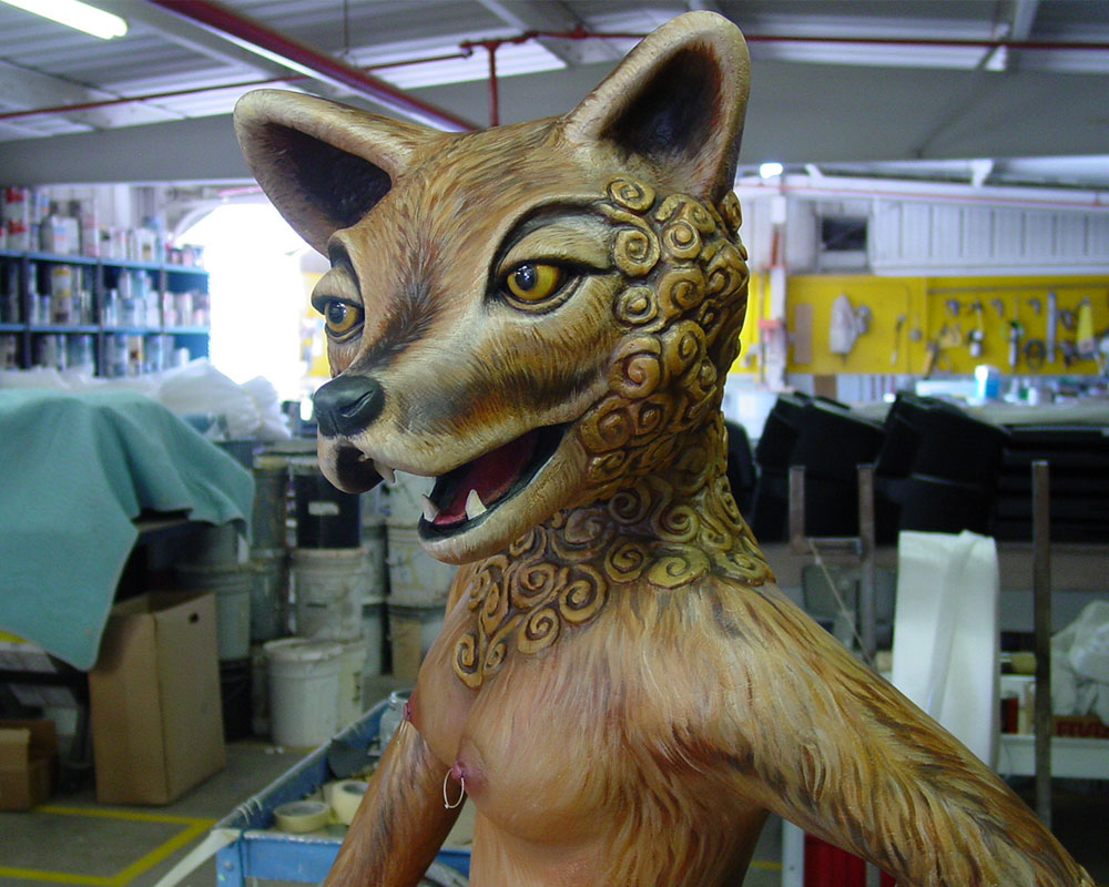Sheila the Coyote Sculpture